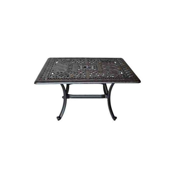 Elisabeth Coffee Table Cast Aluminum 36 X36 Square Table Series 2000 Antique Bronze